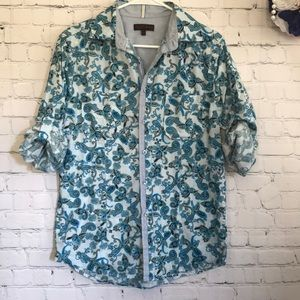 Royal Testimony paisley button down shirt